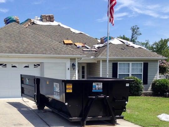 Dumpster Rental For Roofing Repairs Better Bins Disposal
